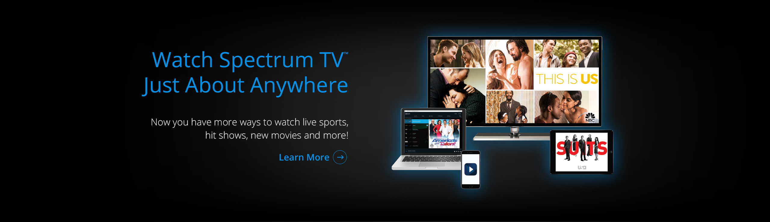 Watch Spectrum TV Just About Anywhere! Click Here!