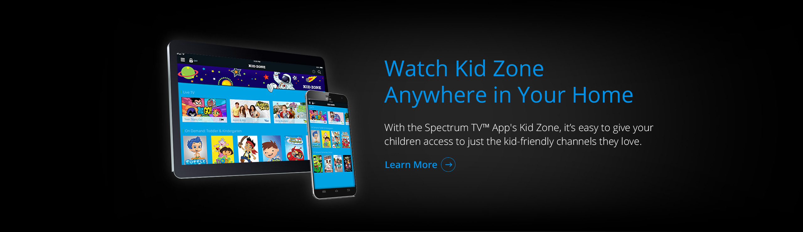 Spectrum TV App Kid Zone