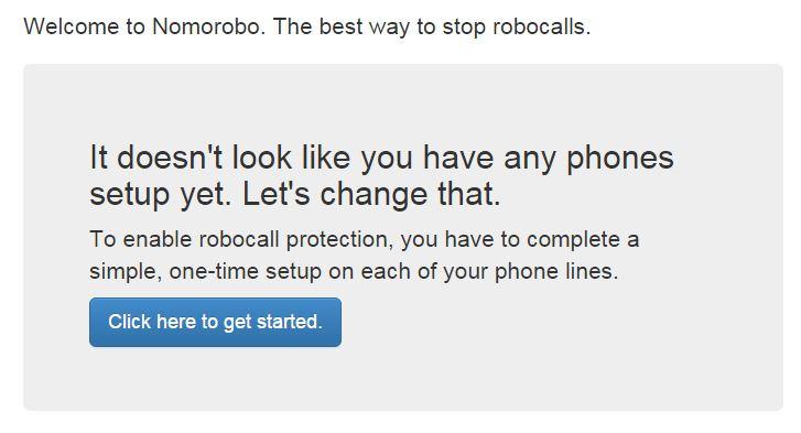 Nomorobo Get Started
