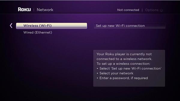 Roku WiFi Setup