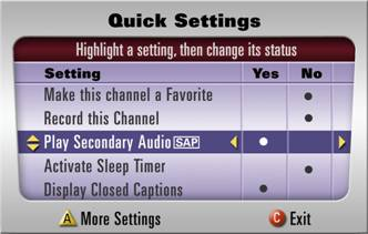 Play secondary Audio - SAP