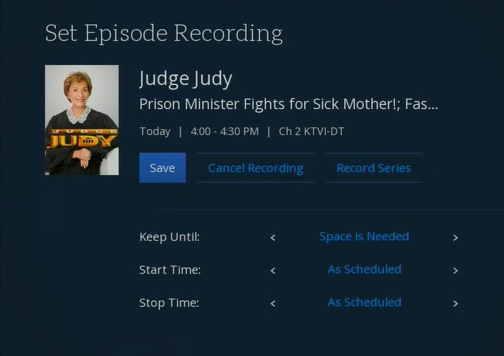 Set Episode Recording