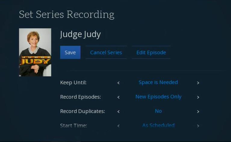 Set Season Recording