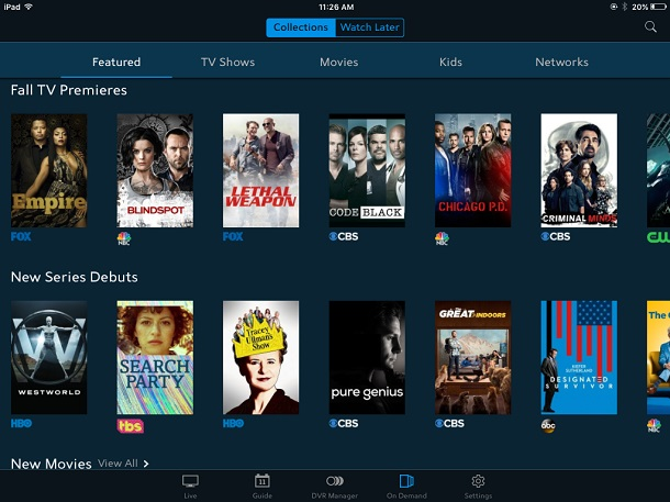 Spectrum TV app On Demand overview
