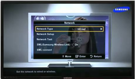 set network to wired