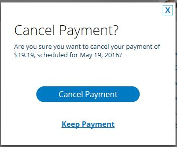 Confirm Cancel Payment