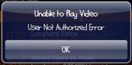 Unable to play video message