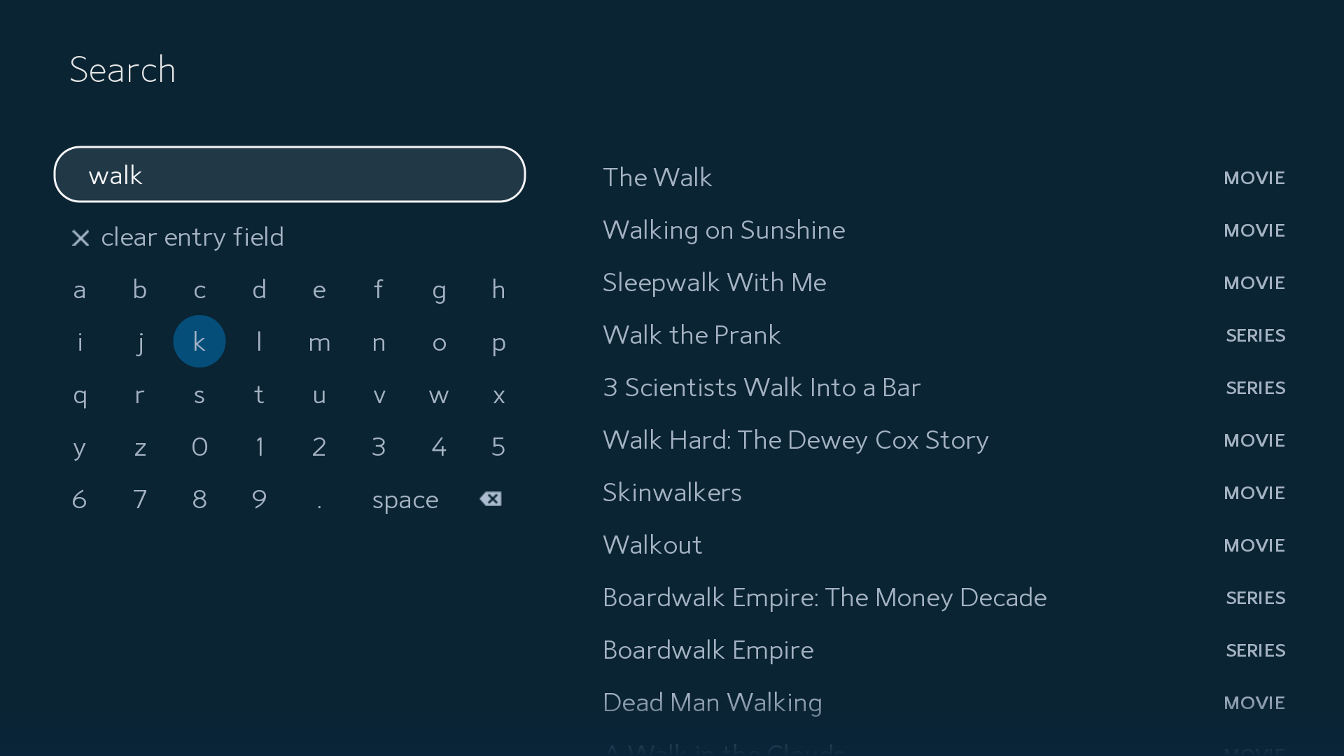 Search feature on the Spectrum TV app for Samsung Smart TVs