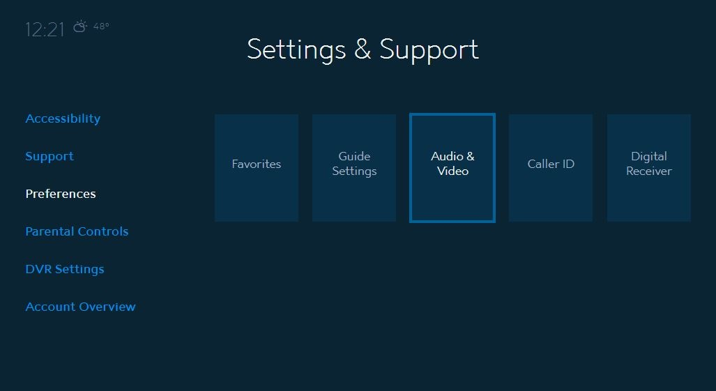 Audio and Video Settings