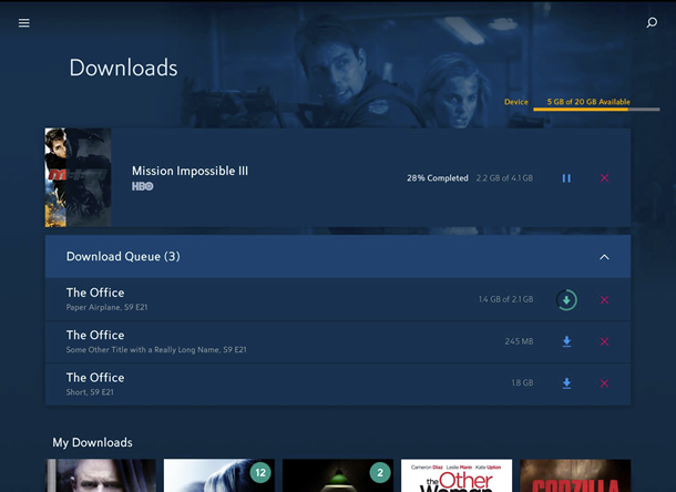 Downloads Screenshot