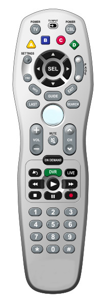 Picture of URC2464 remote