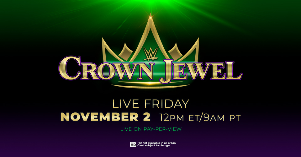 Image result for WWE Crown Jewel 12 PM ET/ 9 AM PT