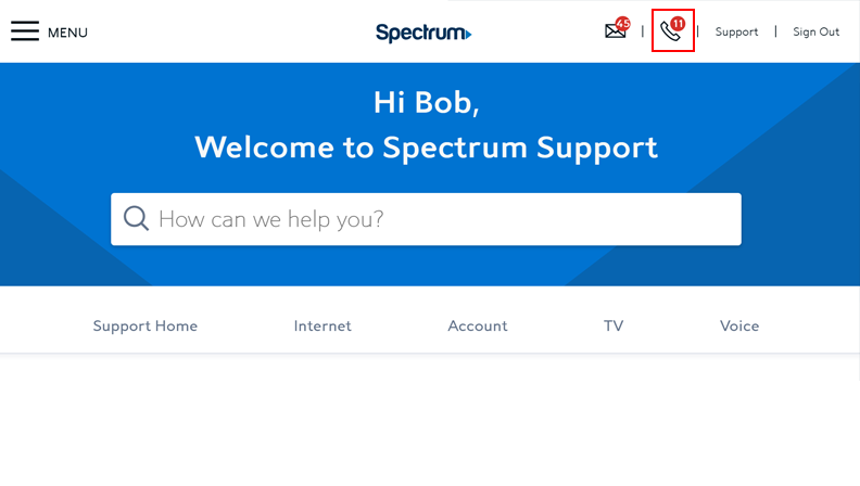 Managing Your Voice Services Online | Spectrum Support