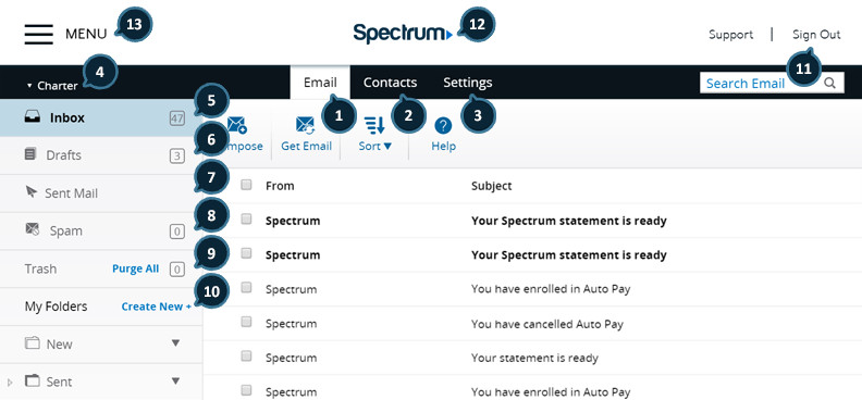 Spectrum Email Reference Guide | Spectrum Support