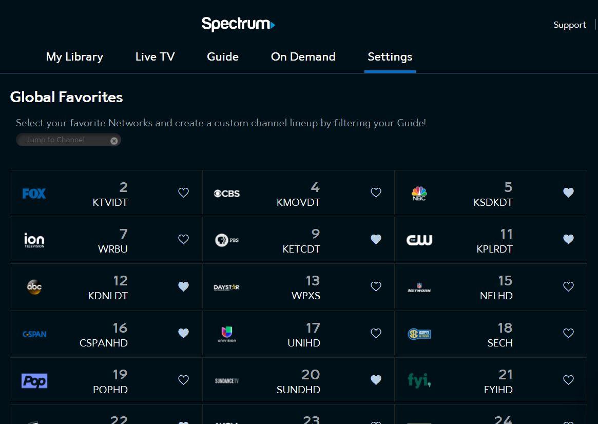 SpectrumTV com Settings | Spectrum Support