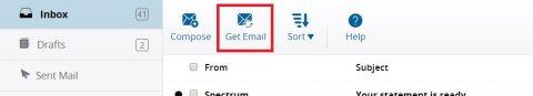 Spectrum email menu bar