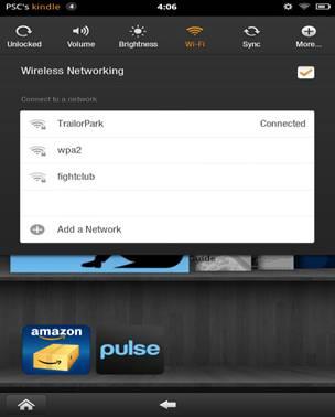 Wireless settings page