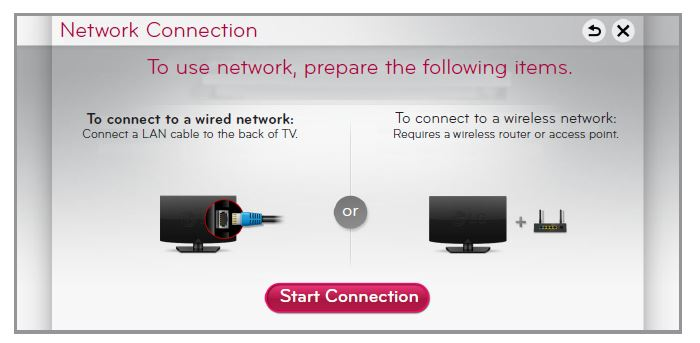 LG Network Connection