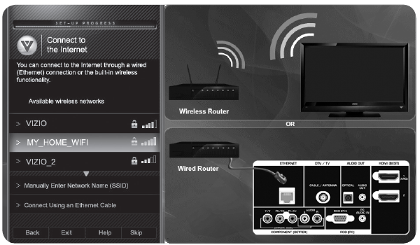 Spectrum Net Connecting Your Vizio Smart Tv To Your Network