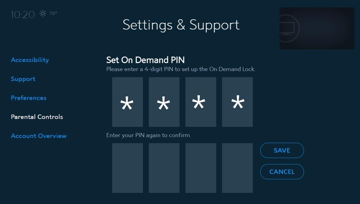 Spectrum Guide Settings: On Demand Lock | Spectrum Support