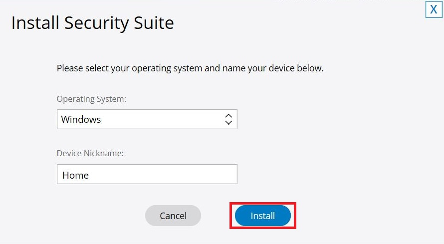 Install Security Suite