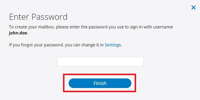 prompt for your Spectrum account password to complete the setup of your Spectrum Email account