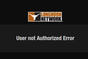User not authorized