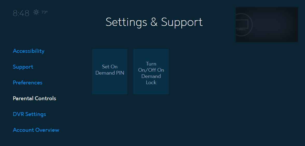 Spectrum Guide Settings: On Demand Lock | Spectrum Support