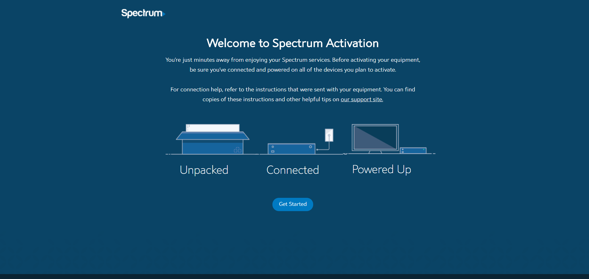 Spectrum.net Activate or Replace a Modem