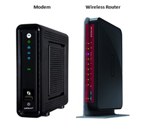 separate modem and router