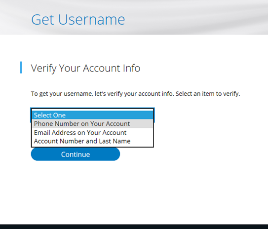Forgot Username or Password