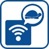 Slow speeds/weak WiFi signal icon