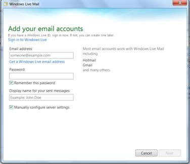 Can't setup a connected account on outlook com - Microsoft Community