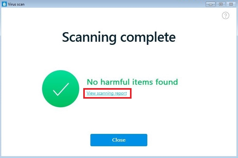 Virus Scan Report